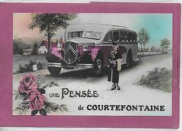 25.-  UNE PENSEE DE COURTEFONTAINE  ( Bus Citroën  , Carte Glacée ) - Andere Gemeenten