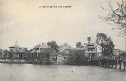 Ile Sur Le Grand Lac D'Hanoï - Carte Dos Simple Non Circulée - Vietnam