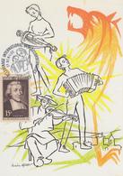 Carte  FRANCE   Pélerinage  International  Des   Accordéonistes   SAUGUES  EN   GEVAUDAN    1990 - Marcofilie (Brieven)