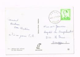 """Oblitération Relais """"Orval Abbaye"""" Sur Carte Expédiée à Brugge. - Cachets à étoiles"""