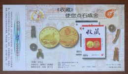 Gold Coin,bronze Coin,knife Money,shovel-shaped Coin,China 1998 Collections Magazine Advertising Pre-stamped Card - Coins