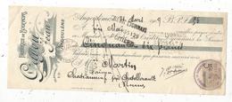 MANDAT ,1909, Fabrique De Bouchons ,GAYOU Jean,ANGOULEME , Timbré ,2 Scans, Frais Fr :1.65 E - Bills Of Exchange