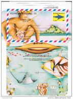 Polynesie Française / Tahiti - Aérogramme à 90 F CFP - 1998 - Neuf - Aérogrammes