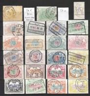 BELGIE Spoorwegzegels W.o. Meerdere Enkelcirkelstempels - Sin Clasificación