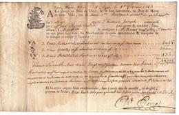 CHOCOLAT - CACAO - COCOA - CAFE - COFFEE / 1783 FRANCE - AGDE CONNAISSEMENT DE TRANSPORT MARITIME  (ref 7992) - Alimentazione