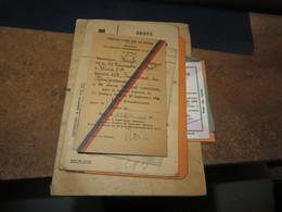 PAPIERS DIVERS A VOIR,dont FRANCE-URSS Et Ordre De Requisition Militaria  (lot 425) - Historical Documents