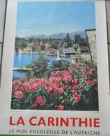 VIEILLE AFFICHE POSTER - AUTRICHE OSTERREICH - CARINTHIE - Afiches