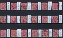 18 Zegels Allen Met Sterstempel / Relais Met ZELDZAME Zoals ASPELAERE En BRUSSEL 27 ; Staat Zie Scan ! Inzet Aan 10 € ! - 1915-1920 Albert I.
