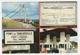 76 Pont De Tancarville En 4 Vues N°7013 Peugeot 404 Citroën 2CV Postée De Pont Audemer En 1970 - Tancarville