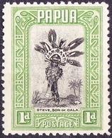 PAPUA 1932 KGV 1d Black & Green SG131 MH - Papua New Guinea