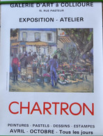 VIEILLE AFFICHE POSTER - CHARTRON 66190 COLLIOURE PEINTRE - Afiches