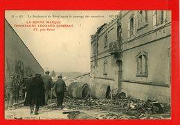 51-413 - MARNE - AY - CHAMPAGNE EDOUARD BESSERAT - Le Boulevard Du Nors Aprés Le Passage Des émeutiers - Ay En Champagne