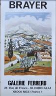 VIEILLE AFFICHE POSTER - BRAYER GALERIE FERRERO 06000 NICE - Afiches