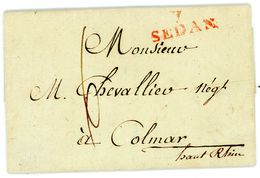 """1807 Brief Mit Inhalt Aus """"7 SEDAN"""" Nach Colmar / Haut Rhin - Marcophilie (Lettres)"""