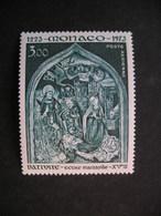 MONACO Nativity Ecole Flamande 1973 MNH - Religieux