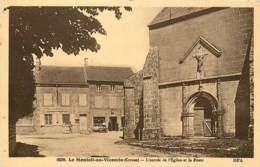 23 , LE MONTEIL AU VICOMTE , Entrée De L'église Et Poste , * 404 31 - France