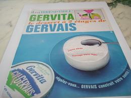ANCIENNE  PUBLICITE GERVITA  DE GERVAIS  1964 - Publicidad