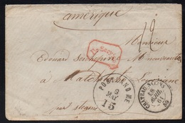 CHATEAU SALINS - MOSELLE / 1861 LETTRE PAR VAPEUR POUR NATCHITOCHES USA (ref 7713) - Alsace-Lorraine