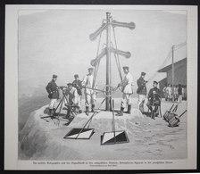 Die Optische Telegraphie Und Des Signaldienst In Den Europäischen Armeen: Semaphoren-Apparat In Der Preussisch - Prints & Engravings