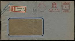 WW II R - Briefumschlag Mit Freistempel, Allianz Versicherung :gebraucht Hannover - Osnabrück 1942 , Bedarfserhaltung - Alemania