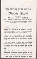 Halluin, Menin, 1951, Blache Debel, Flamez - Images Religieuses