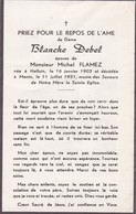 Halluin, Menin, 1951, Blache Debel, Flamez - Devotion Images