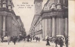 TORINO-VIA ROMA VISTA DA PIAZZA SAN CARLO-ANIMATISSIMA-CARTOLINA VIAGGIATA IL 10-6-1907 - Italia