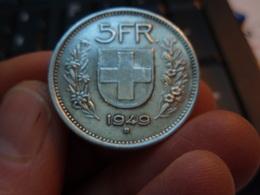 5 Francs Berger Des Alpes / Bouclier Suisse. 1949 B - Berne. - Suisse