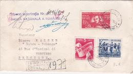 Lettre ROUMANIE - ROMANA - 1949 -  Cachets à La Cire - Banca Nationalà A Romaniei - 1948-.... Républiques