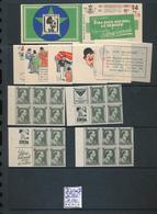 BELGIUM COB A34A(II) CARNET COMPLET SANS AGRAFFE OUVERT - Booklets 1907-1941
