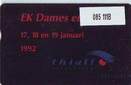 Telefoonkaart  LANDIS&GYR  NEDERLAND * RCZ.085  111B * Thialf 1992 * TK * ONGEBRUIKT * MINT - Privé