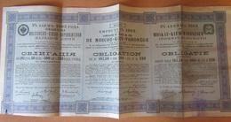 Achat Immédiat - Action Russe - Compagnie Du Chemin De Fer De Moscou-Kiev-Voronège - Obligation - Vers 1903 - Railway & Tramway