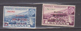 ININI          N°  YVERT  :    57/58      NEUF AVEC  CHARNIERES      ( 02/38   ) - Inini (1932-1947)