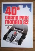 Carte Postale Publicitaire 40e Grand Prix MONACO 82 - Grand Prix / F1