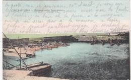 CIVITAVECCHIA-DARSENA CON LE TORPEDINIERE-CARTOLINA VIAGGIATA IL 23-5-1909-AFFRANCATURA FRANCESE - Civitavecchia
