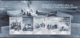 Australian Antarctic 2016 Hurley's Journey - Photographing Minisheet CTO - Australian Antarctic Territory (AAT)