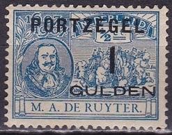 1907 M.A. De Ruyter Met Opdruk Portzegels 1 Gulden / ½ Ct NVPH P 43 Ongestempeld - Portomarken