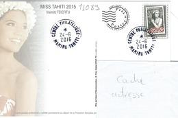 13089  MISS TAHITI 2015  - TAHITI - POLYNÉSIE FRANÇAISE - Lettres & Documents