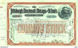 THE PITTSBURGH, CINCINNATI, CHICAGO AND ST. LOUIS  RAILWAY COMPANY 1910 - Railway & Tramway