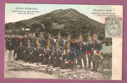 Cpa Armee Allemande Infanterie En Manoeuvres Pres Du Donon - Deutsches Heer Infanterie Im Manover Beim Donon - Frankreich