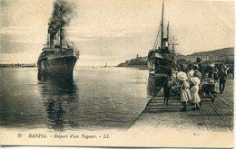 -2B - CORSE  - BASTIA -Départ D'Un Vapeur - Paquebots