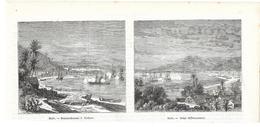 GRAVURE De 1868....HAÏTI. Bombardement De JEREMIE Et Siège De JACQUEMEL - Estampas & Grabados