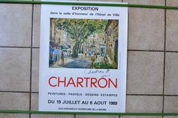 VIEILLE AFFICHE POSTER - 66190 COLLIOURE CHARTRON PEINTRE - Afiches