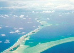 1 AK Marshall Islands * Blick Auf Die Inseln Im Majuro Atoll - Luftbildaufnahme * - Isole Marshall