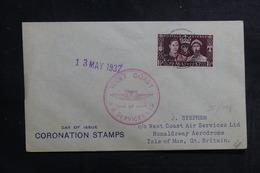 ÎLE DE MAN - Enveloppe FDC En 1937 - Coronation - L 41276 - Isola Di Man