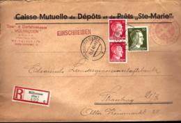 MÜLHAUSEN - ELSAß - 1942 - INSCRIPTION CORRIGÉ - RECOMMANDÉ - - Briefe U. Dokumente