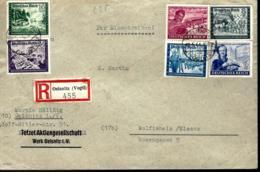 LETTRE RECOMMANDÉE EN PROVENANCE DE Oelsnitz - 1944 - - Briefe U. Dokumente
