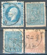 Norwegen,Mi.-Nr.4o,8,9o,14o Fein/feinst, Michel 85€ - Gebruikt