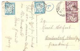 MARIENBERG Allemagne Ob 18 7 1938 Carte Postale NON AFFRANCHIE Taxée Au Régime Intérieur France Et NON UPU ?? Yv T 28 37 - Taxes