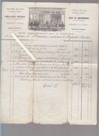 Nantes / Librairie Petitpas, Rue Crébillon / Facture 1866 / En-tete Litho / Pour Architecte De Napoléon Vendée / Voir ét - 1800 – 1899